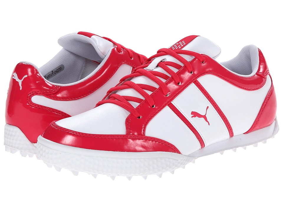 PUMA Golf - Monolite Cat (White/Raspberry) Women's Golf Shoes
