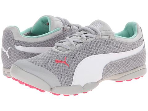 PUMA Golf - Sunnylite Mesh (Vapor Blue/White/Camellia Rose) Women's Golf Shoes