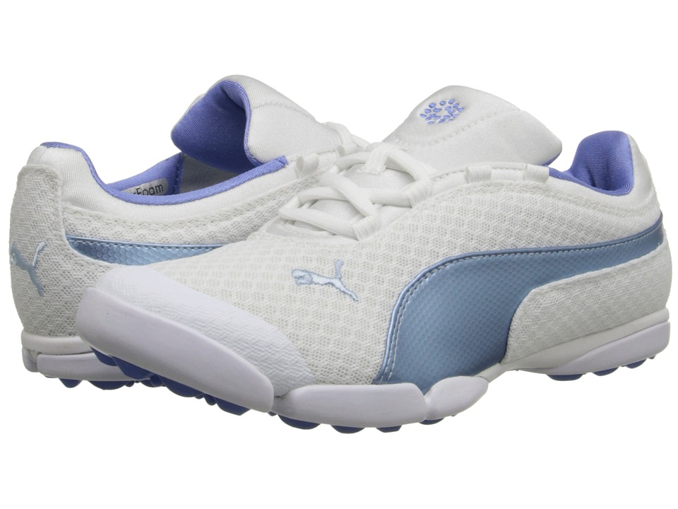 PUMA Golf - Sunnylite Mesh (White/Omphalodes/Ultramarine) Women's Golf Shoes