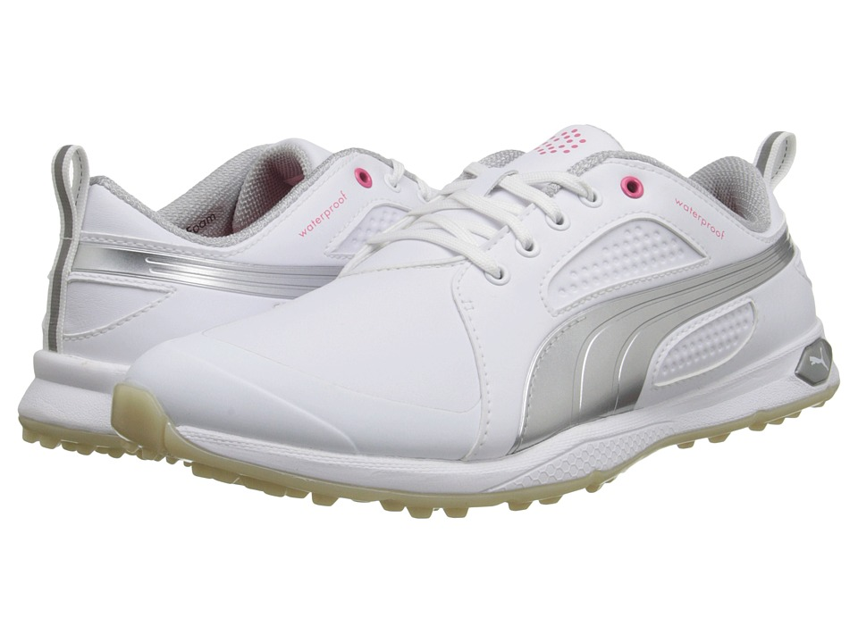 PUMA Golf - Biofly (White/Puma Silver) Women's Golf Shoes