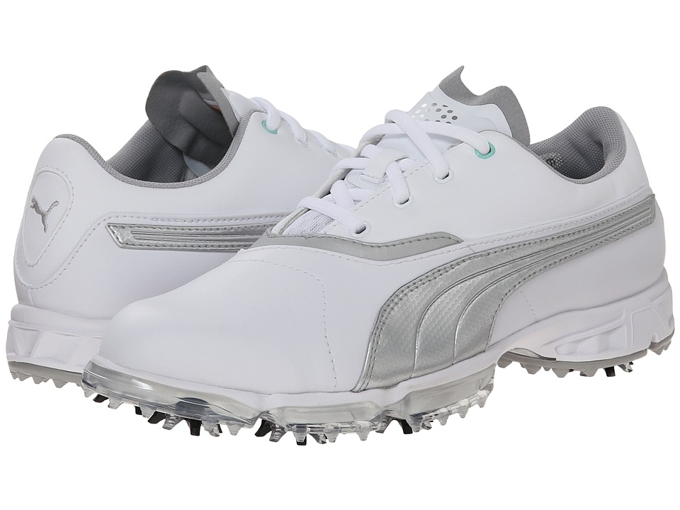 PUMA Golf Biopro (White/Silver Metallic) Women