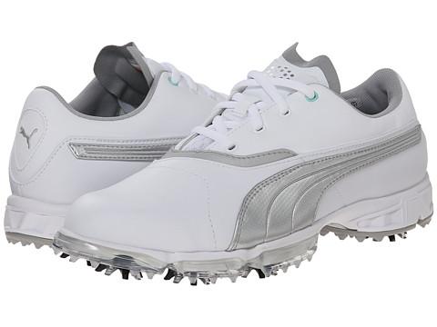 PUMA Golf - Biopro (White/Silver Metallic) Women's Golf Shoes