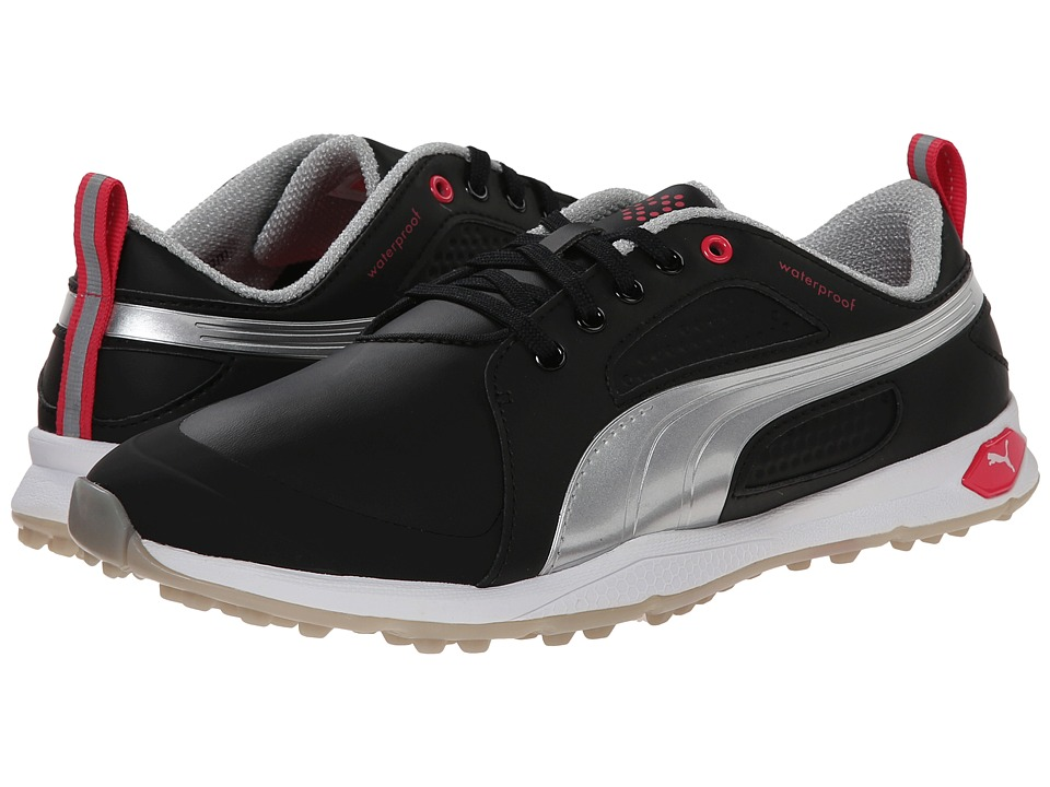 PUMA Golf - Biofly (Black/Puma Silver/Raspberry) Women's Golf Shoes