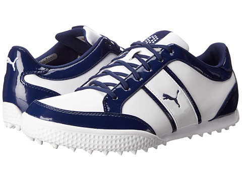 PUMA Golf - Monolite Cat (White/Medieval Blue) Women's Golf Shoes