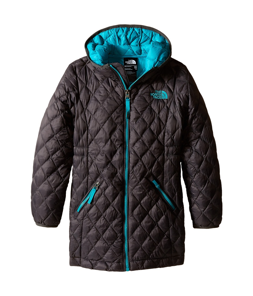 The North Face Kids - ThermoBall Parka (Little Kids/Big Kids) (Graphite Grey/Kokomo Green) Girl's Coat