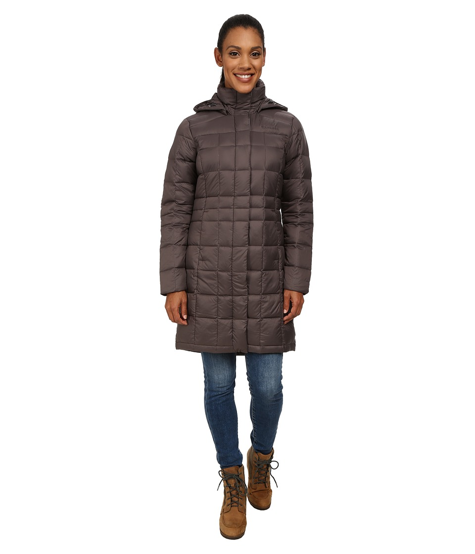 Columbia Hexbreaker Long Down Jacket (Mineshaft) Women