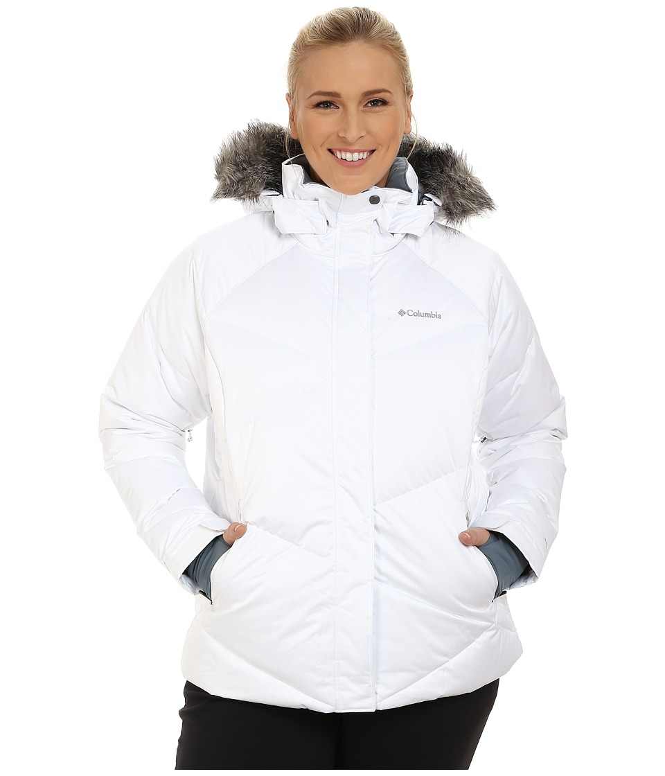 Columbia - Plus Size Lay D Down Jacket (White Satin) Women's Coat