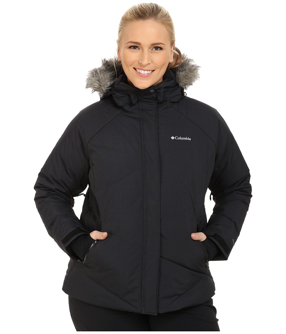 Columbia - Plus Size Lay D Down Jacket (Black Metallic) Women's Coat