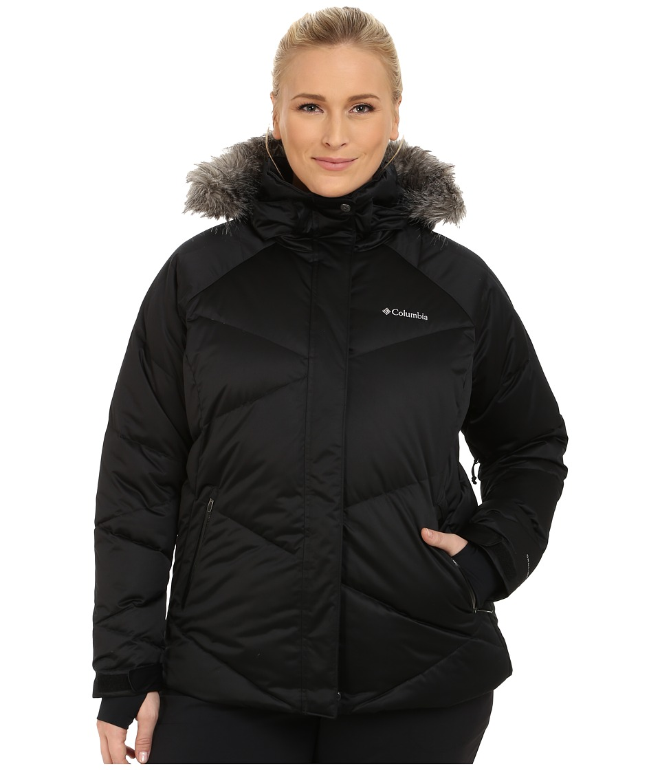 Columbia - Plus Size Lay D Down Jacket (Black Satin) Women's Coat
