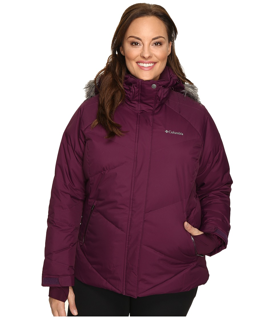 Columbia - Plus Size Lay D Down Jacket (Purple Dahlia Dobby) Women's Coat