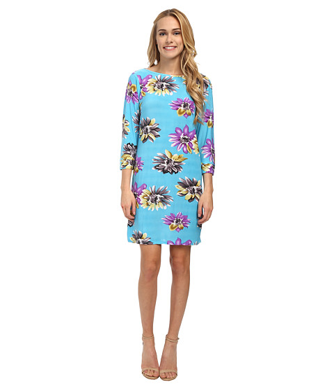 Gabriella Rocha - Vanessa Shift Dress (Sky Blue Floral) Women
