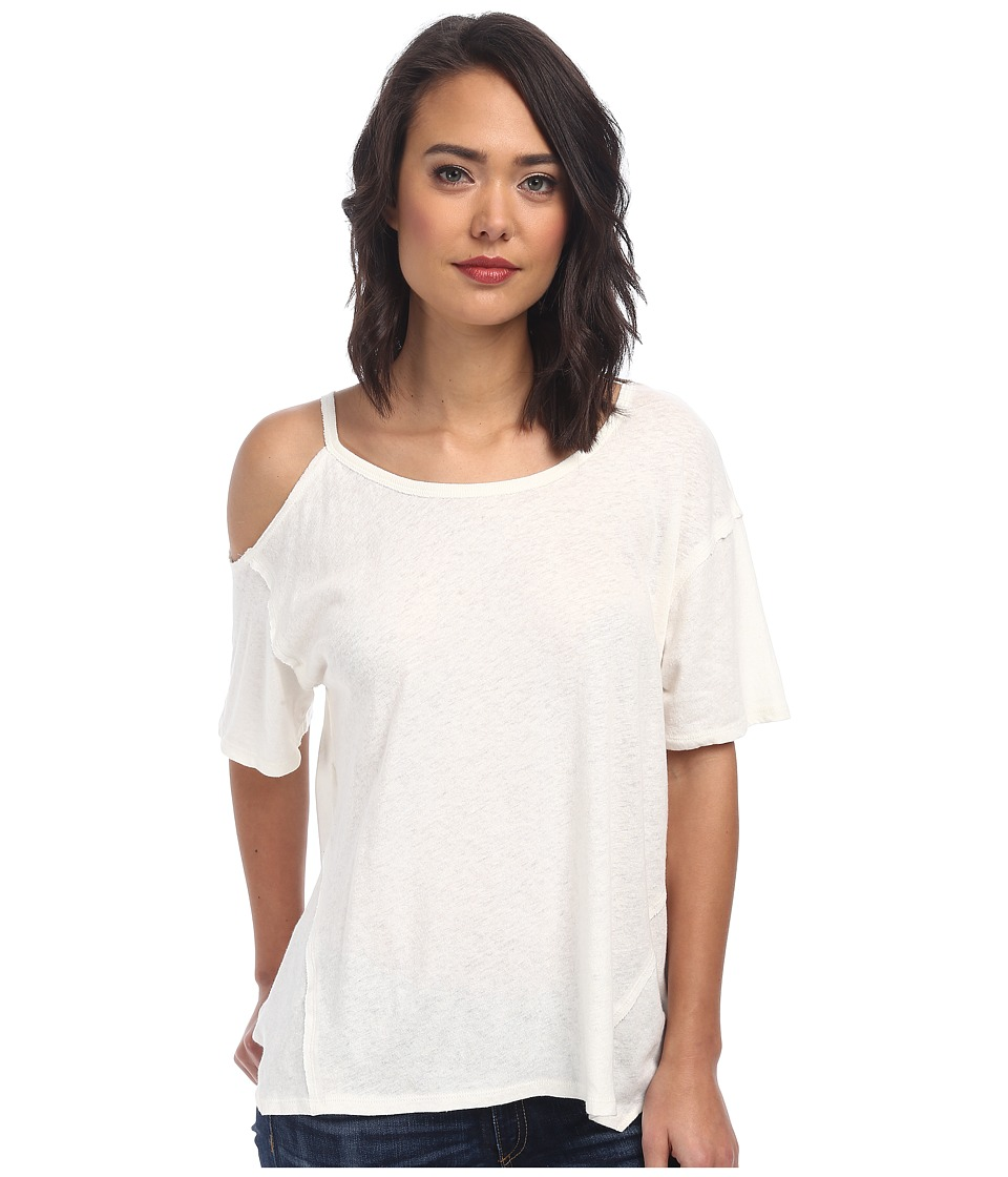 Free People - Cotton Linen Rib After Party Tee (Ivory) Women's T Shirt