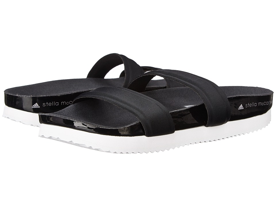 adidas by Stella McCartney - Diadophis Slide (Core Black/Core Black/Pearl Grey) Women