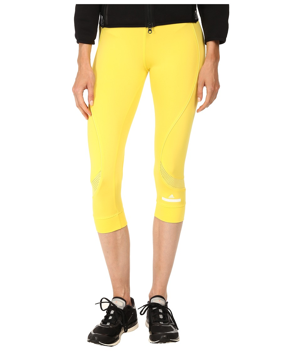 adidas by Stella McCartney - Running 3/4 Tight S17730 (Glow Yellow) Women