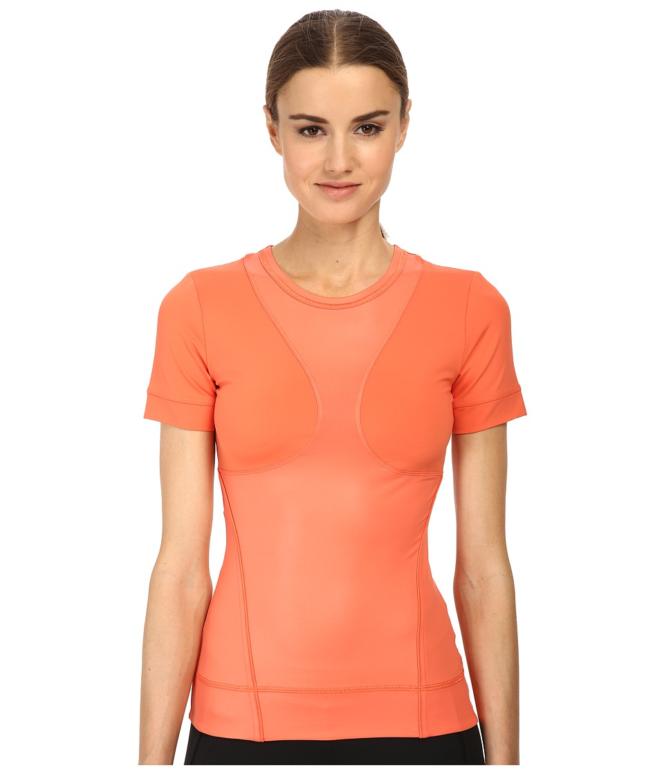 adidas by Stella McCartney - Studio Perfect Tee S15098 (Toasted Orange) Women's Workout