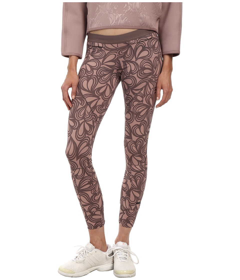 adidas by Stella McCartney - Studio Long Tight Pants S15446 (Smoked Pink/Cement Grey) Women's Workout