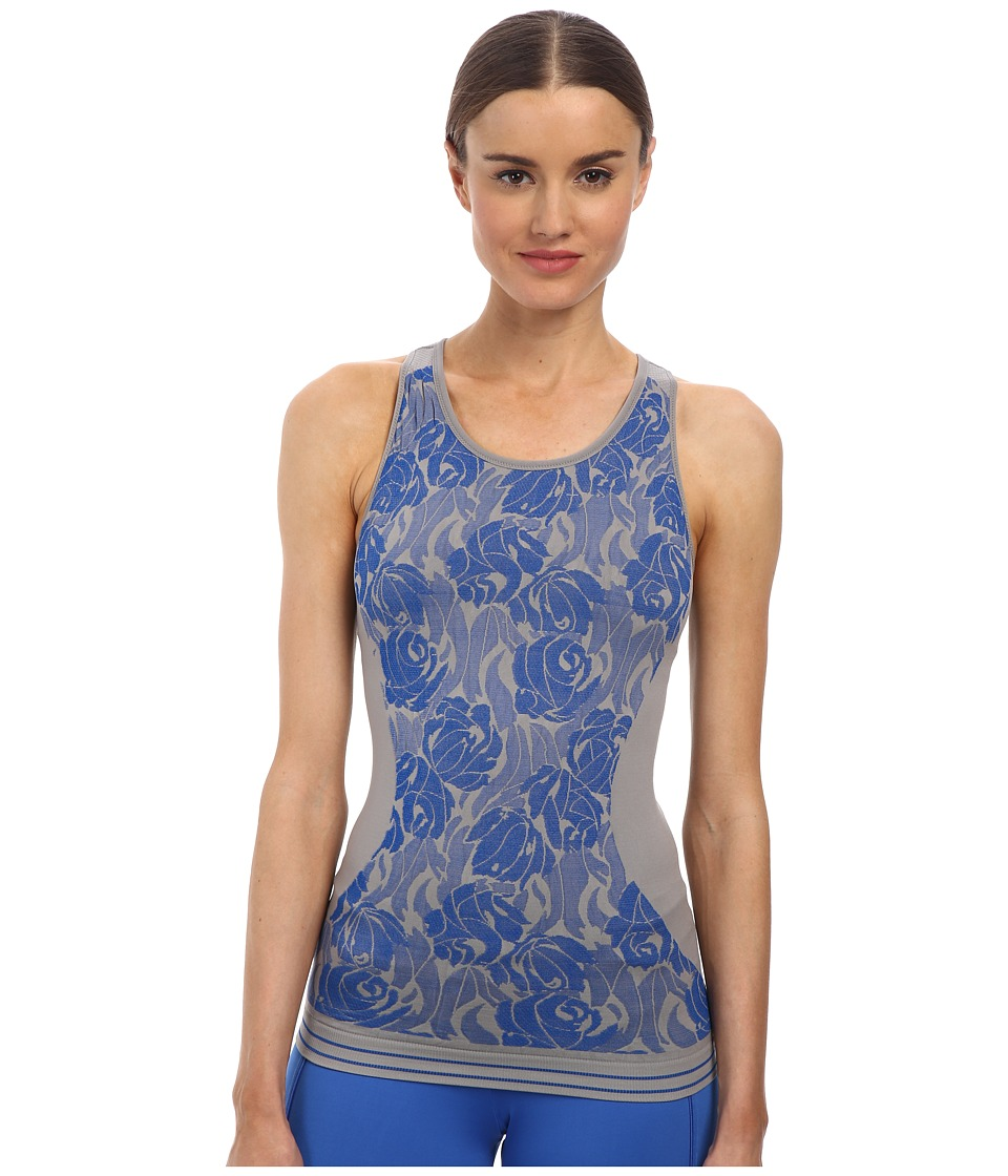 adidas by Stella McCartney - Seamless Tank Top S16184 (Ice Grey/Flight Blue) Women's Workout