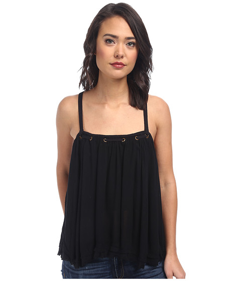 Free People - Rayon Gauze Waiting For You Tank Top (Black) Women