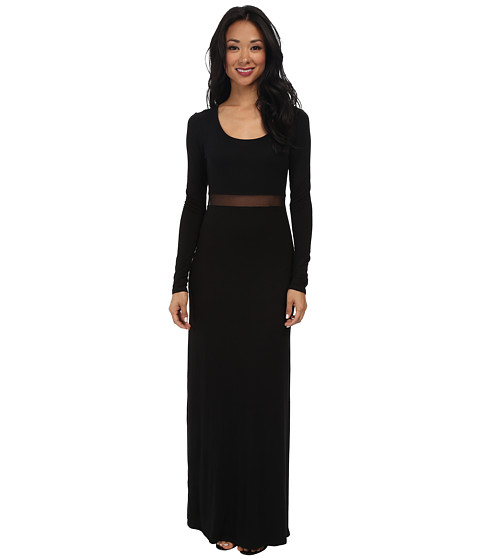BCBGeneration - Mesh Insert Dress (Black) Women's Dress