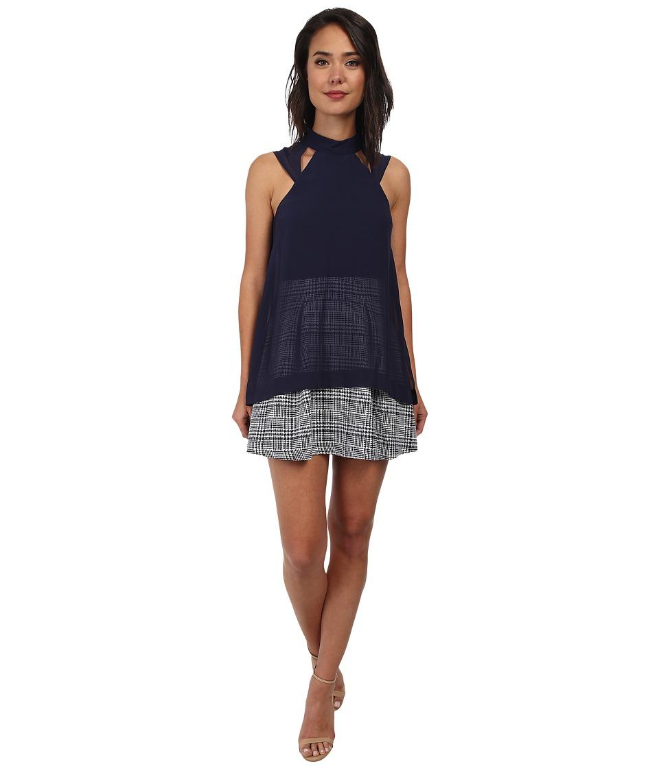 BCBGeneration - Top Overlay Dress (Navy) Women's Dress