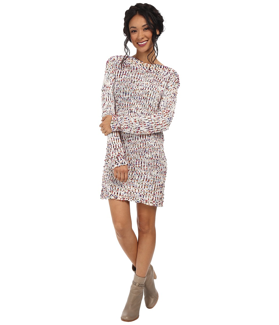 BCBGeneration - Boat Neck Boucle Dress (Multi Combo) Women's Dress