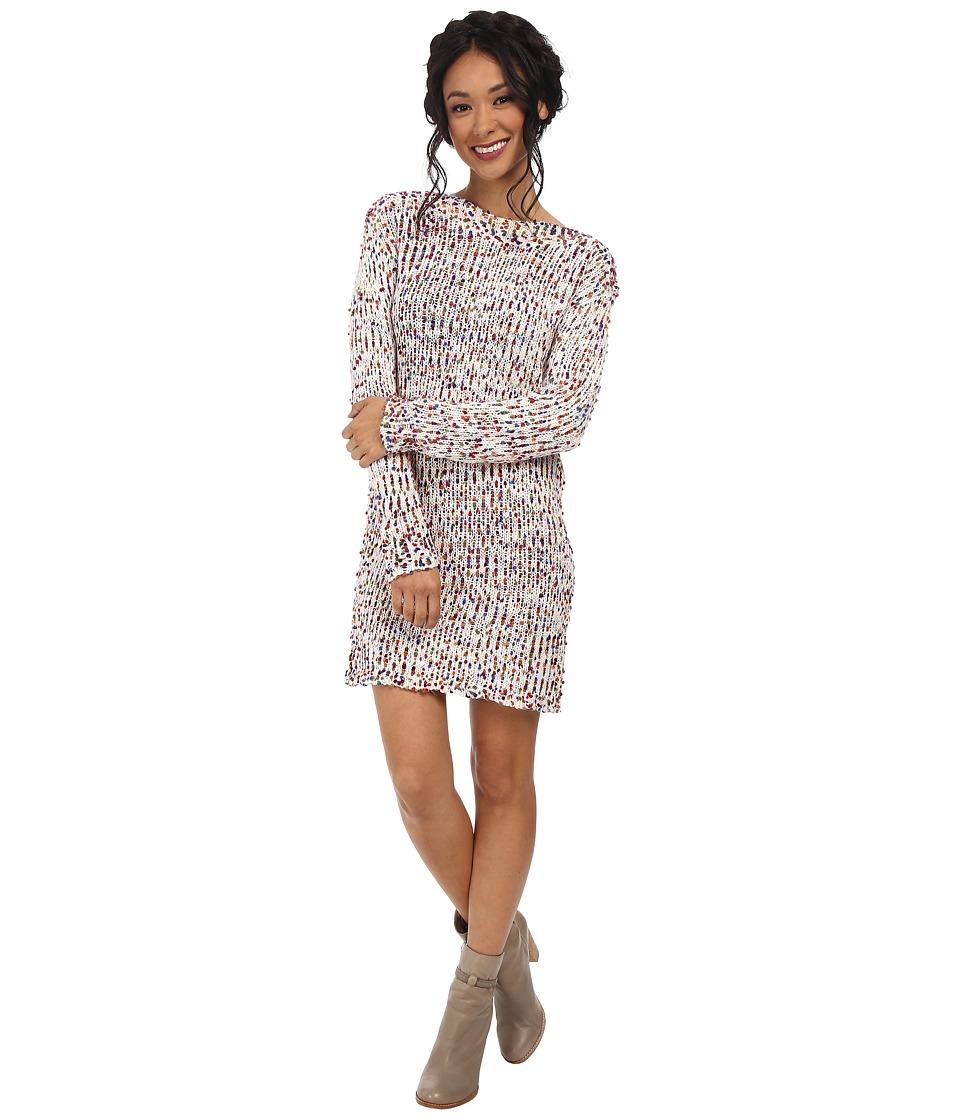 BCBGeneration - Boat Neck Boucle Dress (Multi Combo) Women's Dress