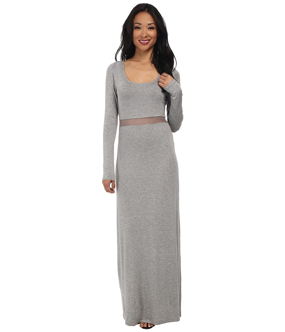 BCBGeneration Mesh Insert Dress (Heather Grey) Women