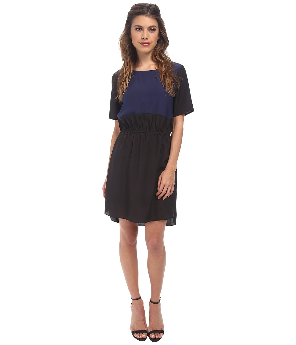 BCBGeneration - Contrast Front Dress (Black) Women's Dress
