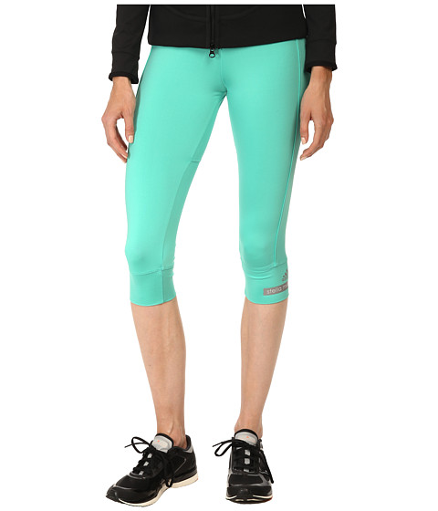 adidas by Stella McCartney - The 3/4 Tight S02970 (Shimmer Green) Women