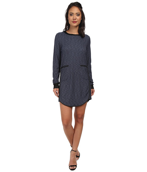 BCBGeneration - Contrast Binding Dress (Navy Combo) Women