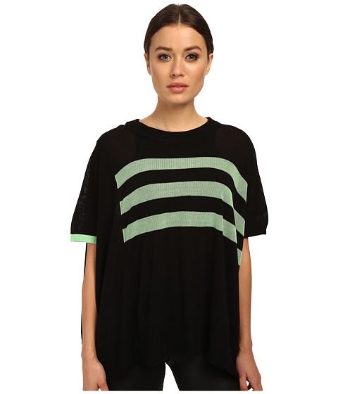 adidas Y-3 by Yohji Yamamoto - Knit Sweater (Black/Light Flash Green) Women's Sweater