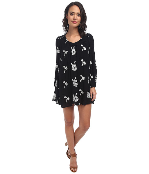 Free People - Rayon Gauze Emmas Dress (Black Combo) Women