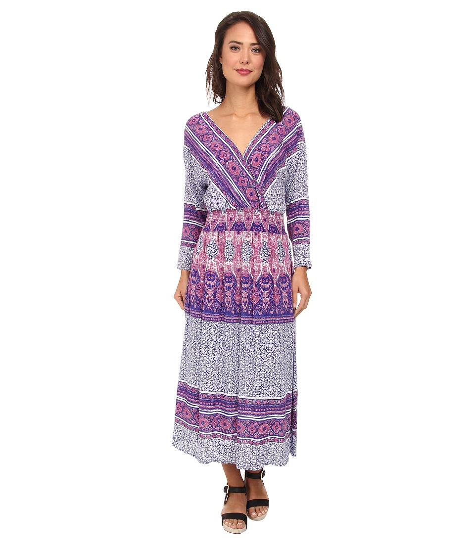 Free People - Printed Rayon Shes A Lady Dress (Royal Combo) Women's Dress