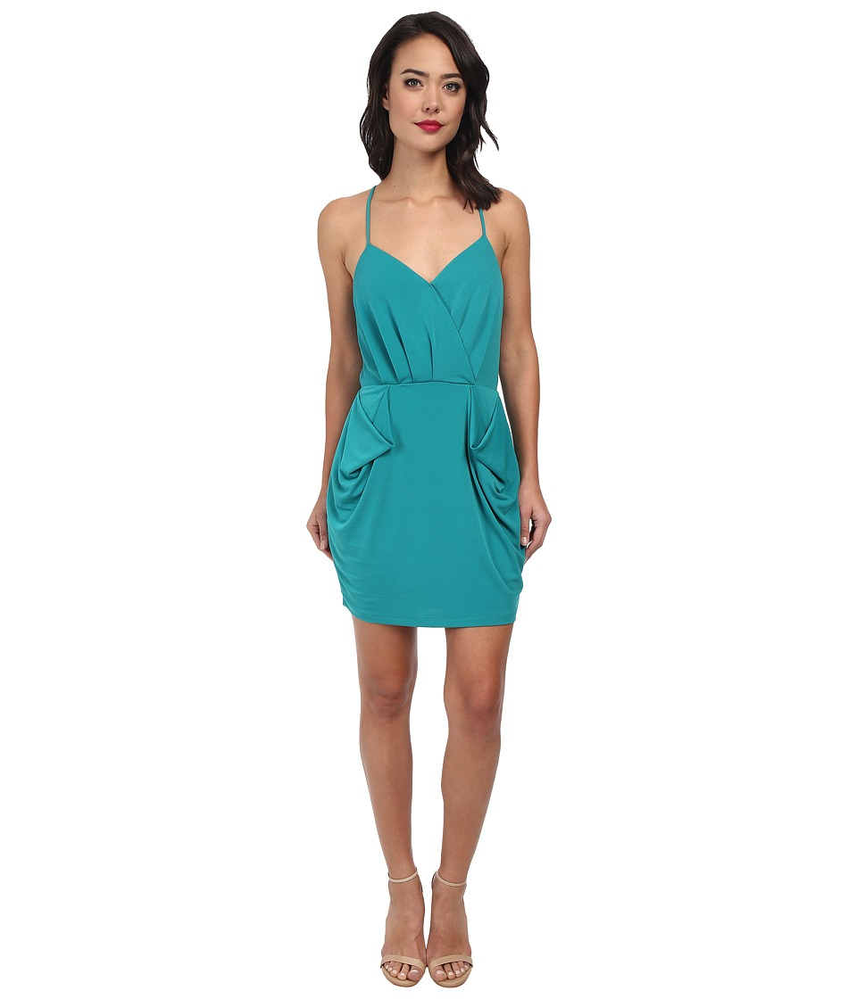 BCBGeneration - Drape Pocket Dress (Juniper) Women