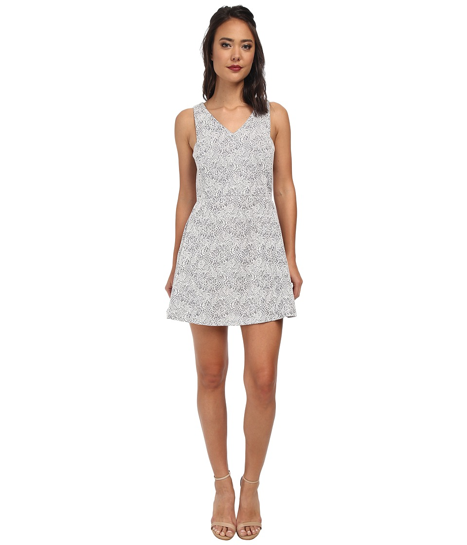 BCBGeneration - Flounce Hip Dress (Blue Combo) Women's Dress