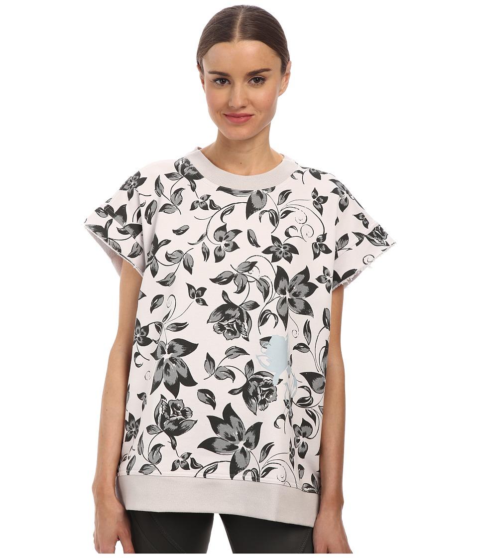 adidas by Stella McCartney - Running Boxy Sweat S16175 (Floral Grey Shades) Women