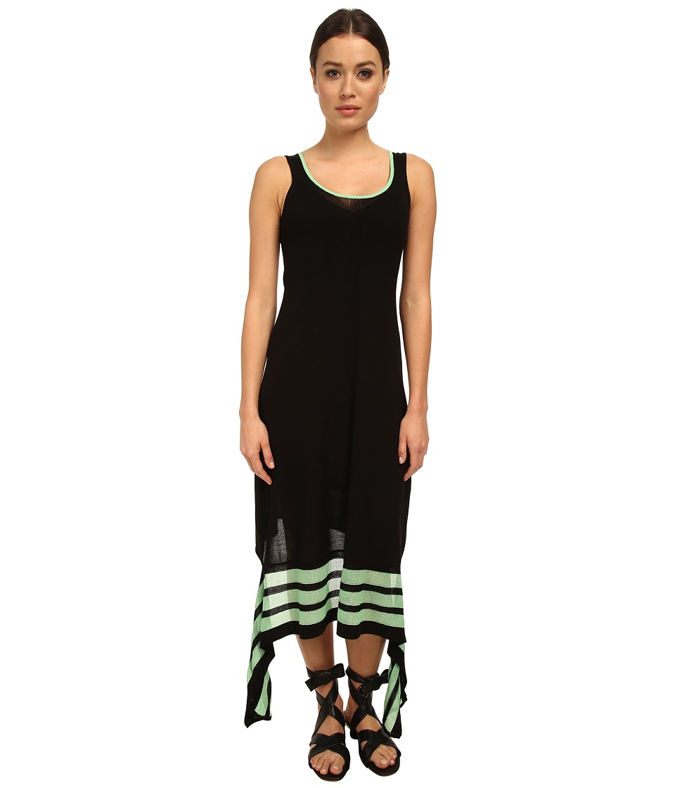 adidas Y-3 by Yohji Yamamoto - Knit Dress (Black/Light Flash Green) Women's Dress