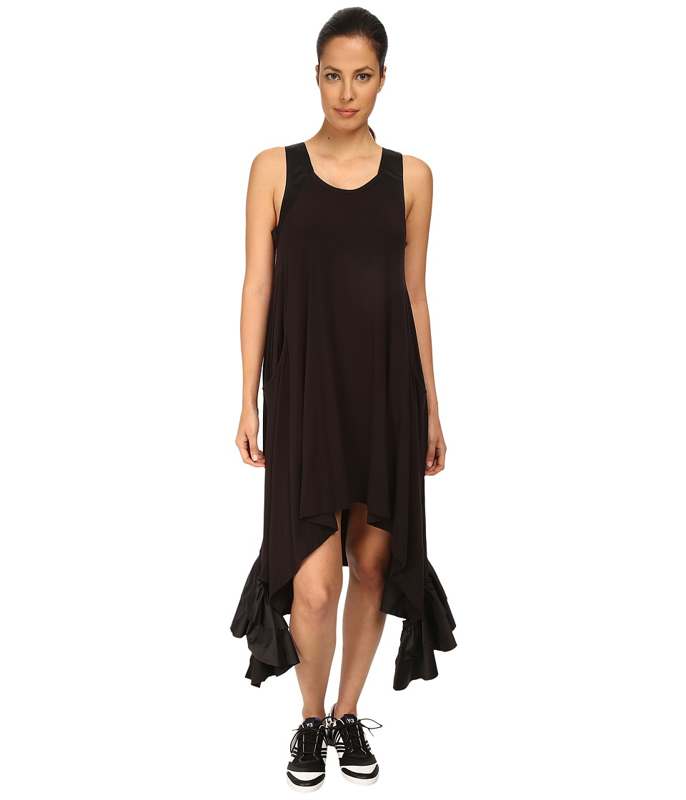 adidas Y-3 by Yohji Yamamoto - Jersey Ruffle Dress (Black/Black) Women's Dress