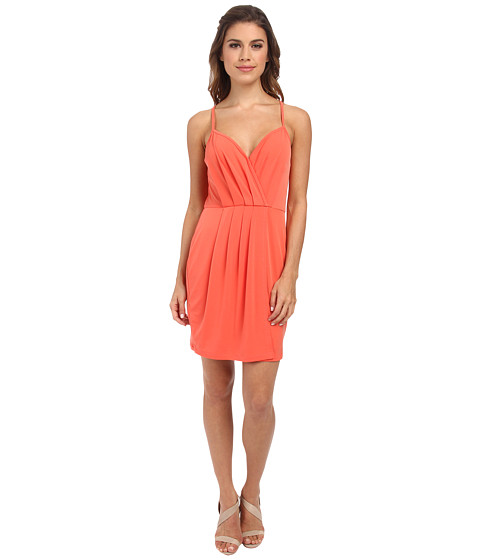 BCBGeneration - Cross Front Short Dress (Salmon Wine) Women