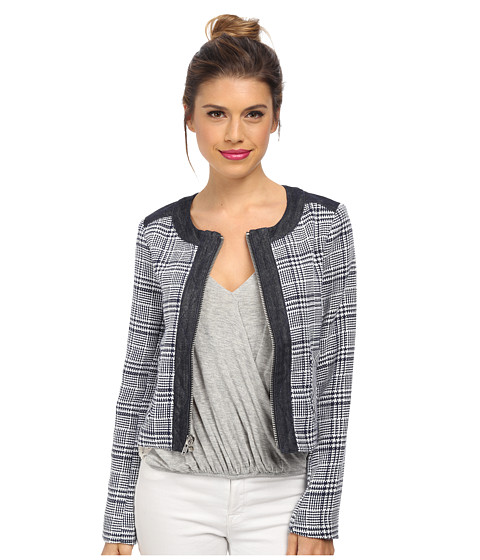 BCBGeneration - Contrast Back Boxy Jacket (Navy Combo) Women's Coat