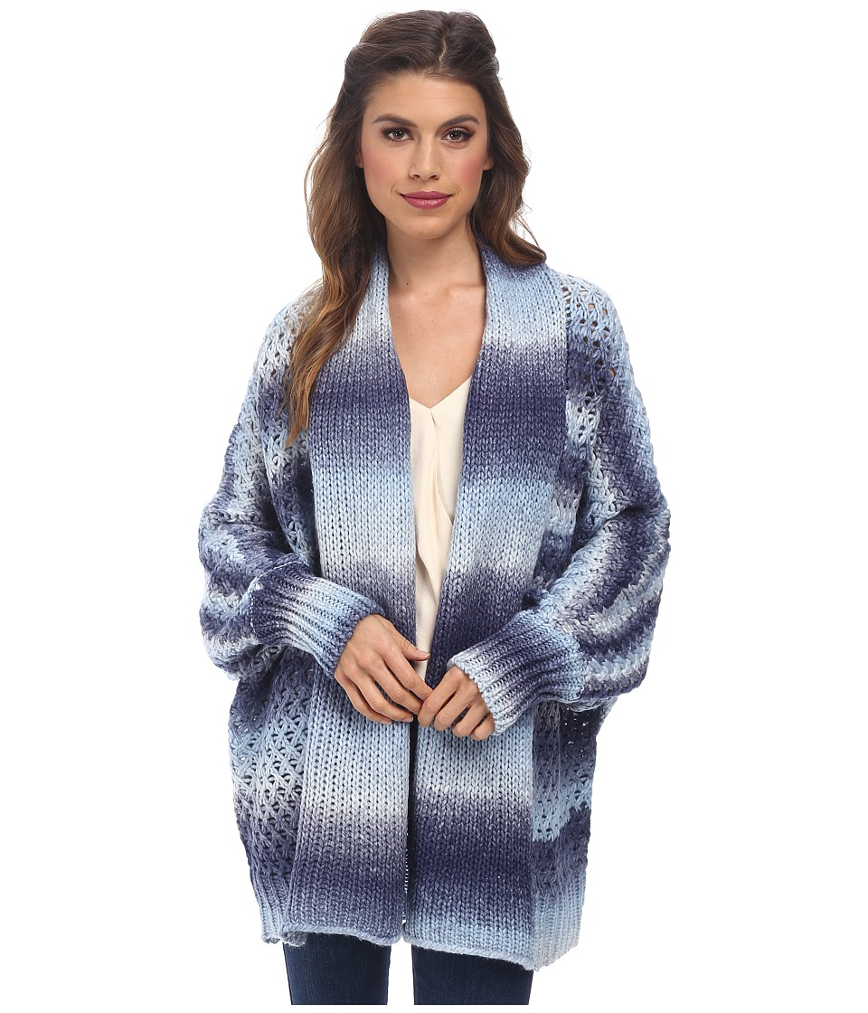 BCBGeneration - Open Front Dolman Cardigan (Blue Combo) Women's Sweater