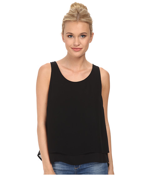 BCBGeneration - Double Layer Tank Top (Black) Women's Sleeveless
