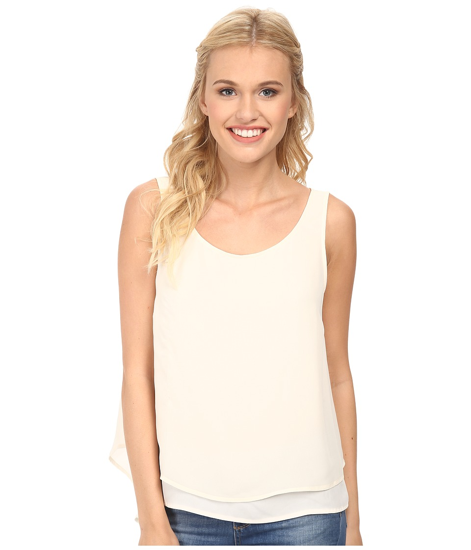 BCBGeneration - Double Layer Tank Top (Whisper White) Women's Sleeveless