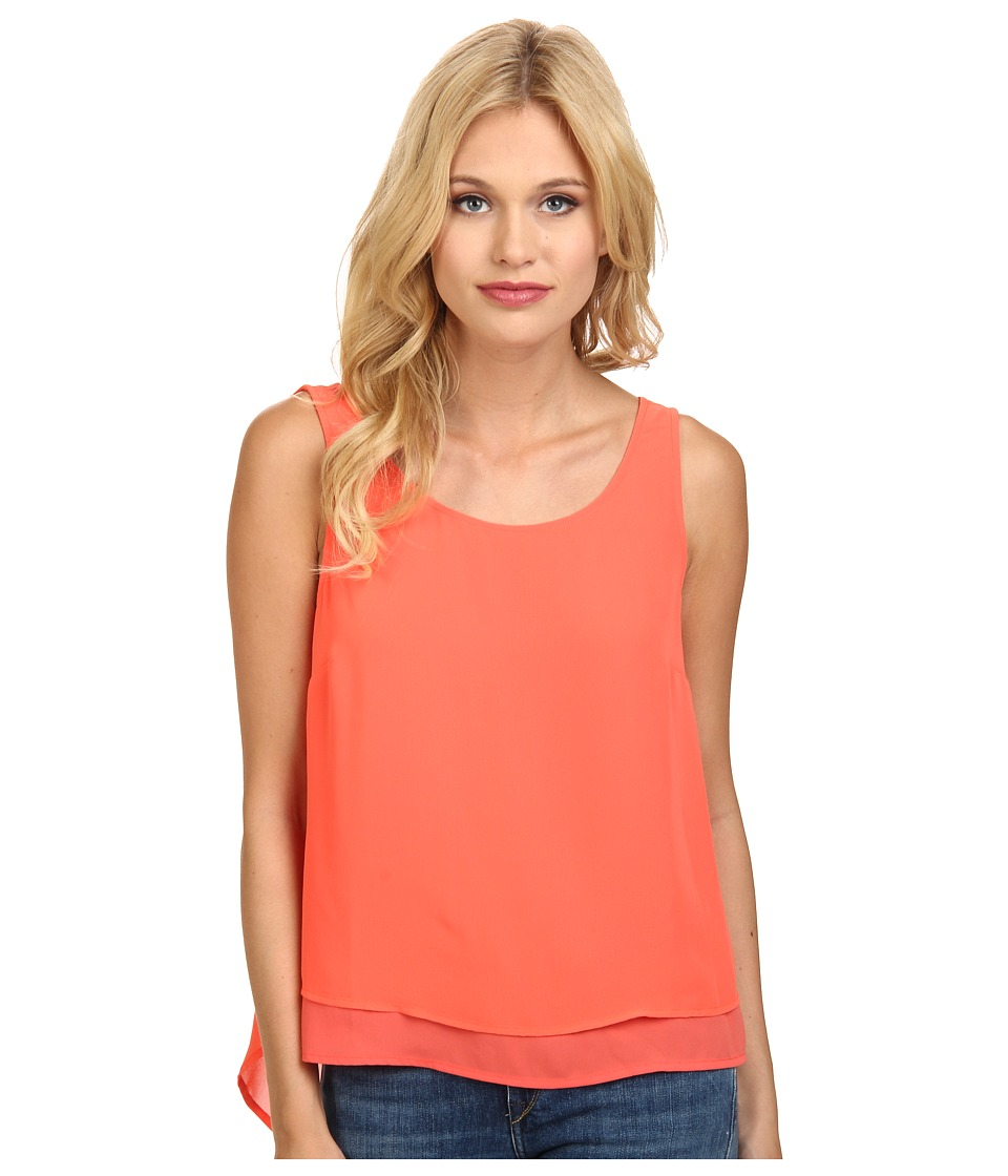 BCBGeneration - Double Layer Tank Top (Salmon Wine) Women's Sleeveless