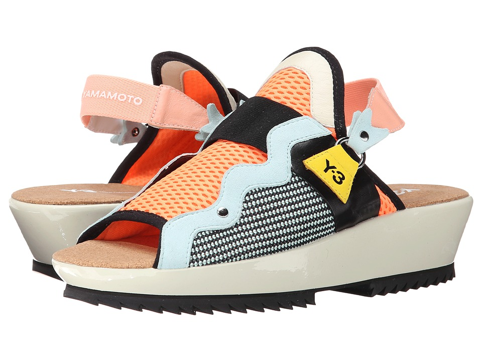 adidas Y-3 by Yohji Yamamoto - Malye Sandal (Glow Orange/Black) Women's Sandals