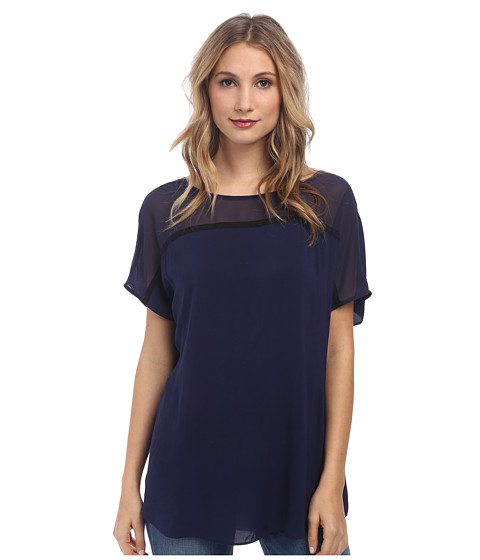 BCBGeneration - Blocked Seamed Tee (Navy) Women's T Shirt