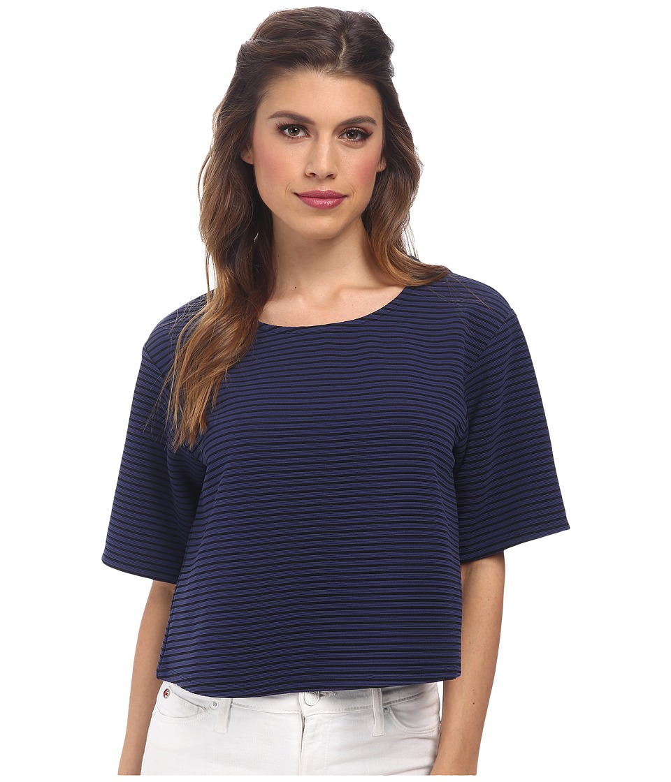 BCBGeneration - Boxy Top (Navy Combo) Women's Clothing