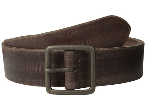 John Varvatos - 40mm Burnished Leather w/ Center Bar Buckle (Tan) Men's Belts