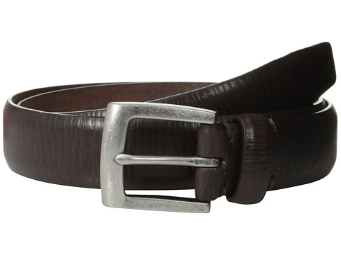 John Varvatos - 30mm Boarded Veg Harness Buckle (Chocolate) Men's Belts