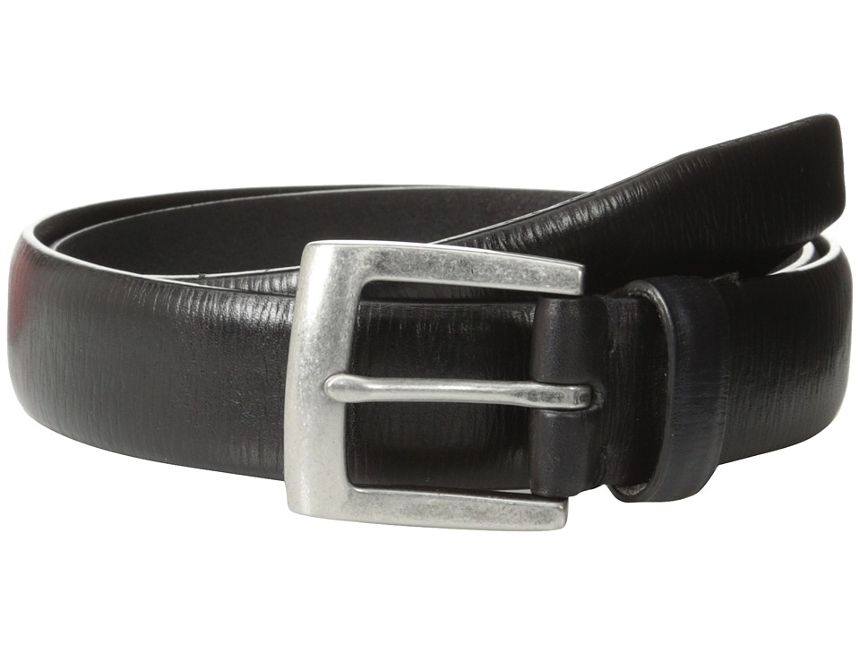 John Varvatos - 30mm Boarded Veg Harness Buckle (Black) Men's Belts